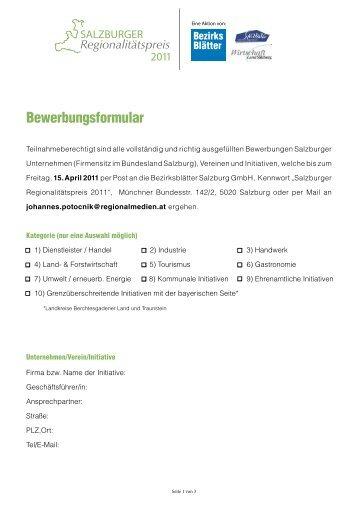 Bewerbungsformular Magazine