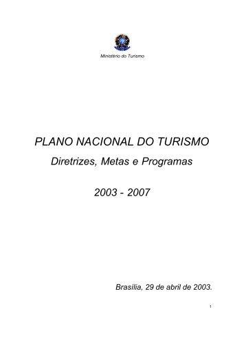 PLANO NACIONAL DO TURISMO - Empreende.org.br