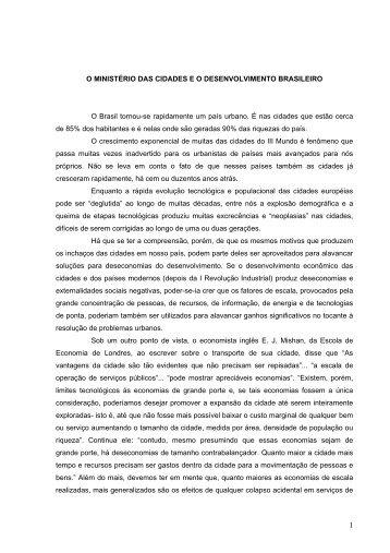O Ministério das cidades e o desenvolvimento ... - Empreende.org.br