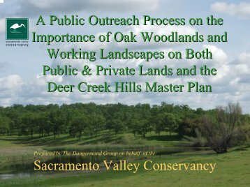 A Public Outreach Process on the Importance of Oak Woodlands ...