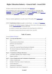 Higher Education Industry-General Staff-Award 2010