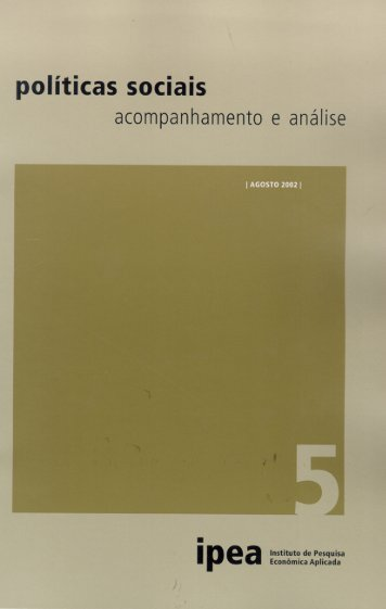 políticas sociais - Ipea n° 05 - Empreende.org.br