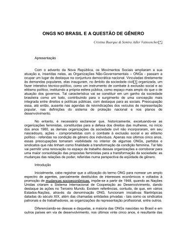 ONGS NO BRASIL E A QUESTÃO DE GÊNERO ... - Empreende.org.br