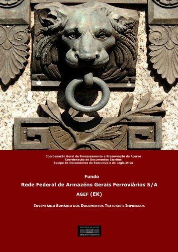 Rede Federal de Armazéns Gerais Ferroviários ... - Arquivo Nacional