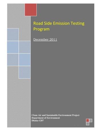 Road Side Emission Testing Program - CASE