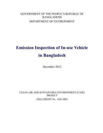 Emission Inspection of In-use Vehicle in Bangladesh - CASE