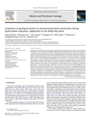Evaluation of geological factors in characterizing fault ... - Index of