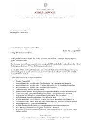 Informationsbrief für den Monat August Halle, den 2. August 2007 ...