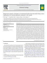 Magnesium isotopic systematics of continental basalts from the ...