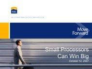 Small Processors Can Win Big - MAPP