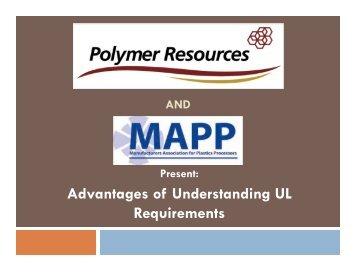 Advantages of Understanding UL Requirements - MAPP