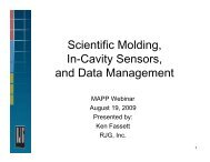 Scientific Molding, In-Cavity Sensors, and Data Management - MAPP