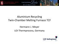 Aluminium Recycling Twin-Chamber Melting Furnace TCF
