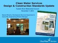 November 2012 CWS Design and Construction Standards Update