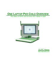 ONE LAPTOP PER CHILD OVERVIEW - OLPC News