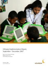 Ethiopia Implementation Report, September - December 2007