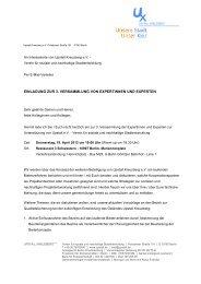 einladung zur 3. versammlung von expertinnen und experten