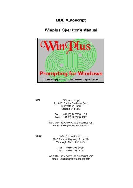Autoscript user manual | pdf-manuals. Com.