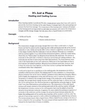 Printables Heating Curve Worksheet chemistry heating curve worksheet comcast net and cooling curves