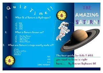 The Final Copy of Saturn Booklet