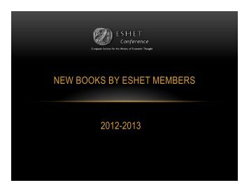 to go to the ESHET 2013 video display of books