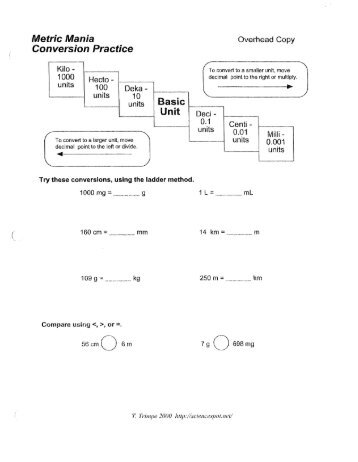 metric conversion worksheet answer key metric conversion worksheet answer key of metric length. Black Bedroom Furniture Sets. Home Design Ideas