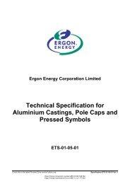 Technical Specification for Aluminium Castings, Pole ... - Ergon Energy