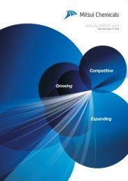 Annual Report 2009 - Mitsui Chemicals