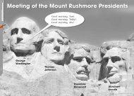 George Washington Thomas Jefferson Theodore Roosevelt ...
