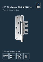 ECO Objektband OBX-18-2541/160 Produktinformation - ECO-Schulte
