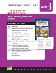 Read-Aloud - Benchmark Resources - Benchmark Education ...