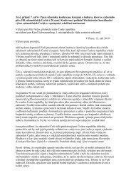 Návrh dopisu přijatého na závěr konference zahraničních Čechů
