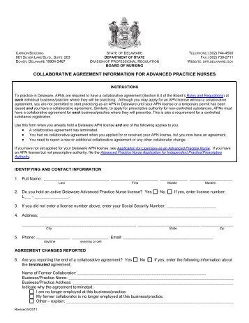 Generic Collaborative Practice Agreement Form Louisiana State