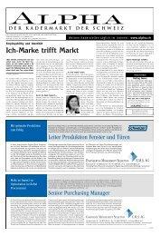 Leiter Produktion Fenster und Türen - Tagesanzeiger e-paper