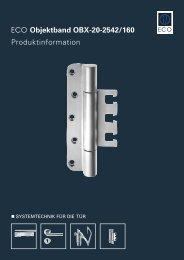 ECO Objektband OBX-20-2542/160 Produktinformation - ECO-Schulte