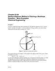 Newton-Raphson Method of Solving a Nonlinear Equation â