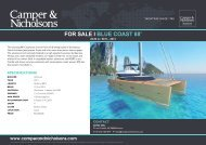 Blue Coast 88' Yacht for Sale - Unknown Luxury Sail Yacht