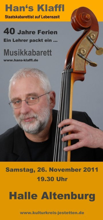 Halle Altenburg - Kulturkreis Jestetten