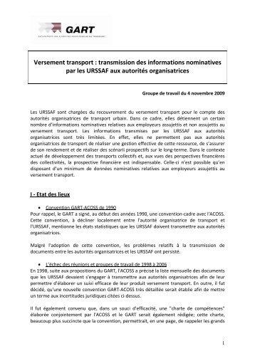 Versement transport : transmission des informations ... - Gart