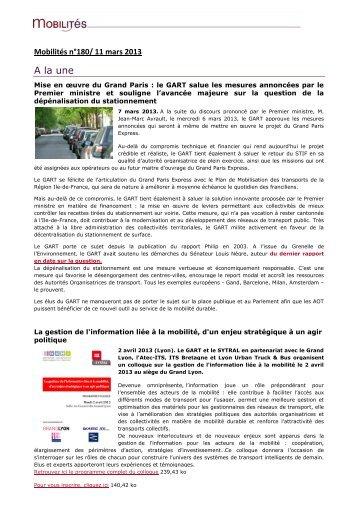 Edition du 11 mars 2013 - Gart