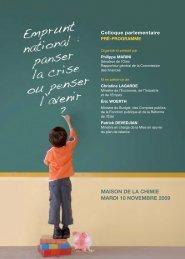 MAISON DE LA CHIMIE MARDI 10 NOVEMBRE 2009 - Gart