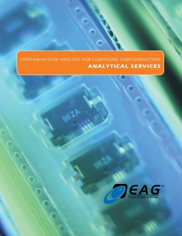 Contamination Analysis for Compound Semiconductors Analytical ...
