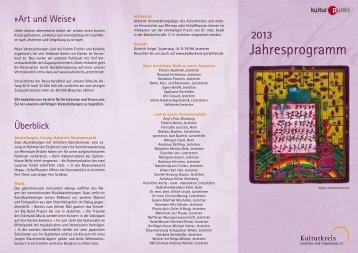Jahresprogramm - Kulturkreis Jestetten
