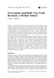 Overcoming Apartheid - James L. Gibson's website - Washington ...