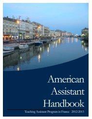 2012-2013 American Assistant Handbook - Higher Education
