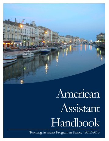 2012-2013 American Assistant Handbook - Higher Education