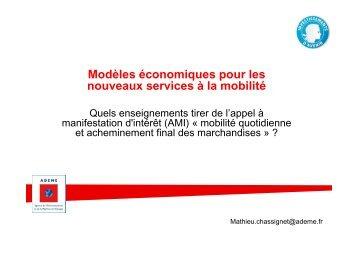Modèles économiques pour les nouveaux services à la mobilité - Gart
