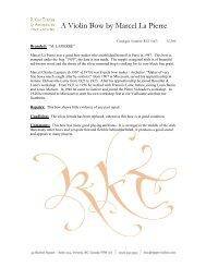 A Violin Bow by Marcel La Pierre - R. Kim Tipper & Associates Fine ...