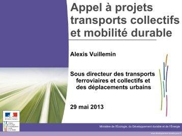 Appel à projets transports collectifs et mobilité durable - Gart