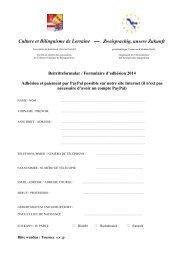 Culture et Bilinguisme de Lorraine Zweisprachig, unsere Zukunft